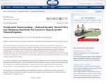 Obama Memorandum 21 novembre 2012